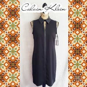 NEW Sz 6 Calvin Klein dress black